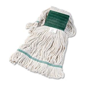 Boardwalk Super Loop Mop Heads, Medium, White, 12 Mops (BWK502WHCT)