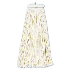 Boardwalk Cut-End Lie-Flat Wet Mop Head, Cotton, 16oz, White (BWK716CCT)