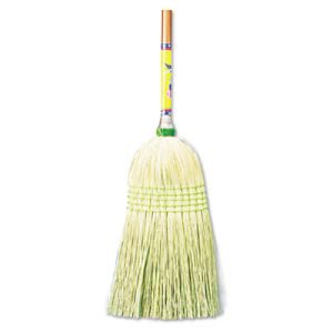 Boardwalk Parlor Broom with Corn Bristle Fibers, 12 Brooms/Carton (BWK926CCT)
