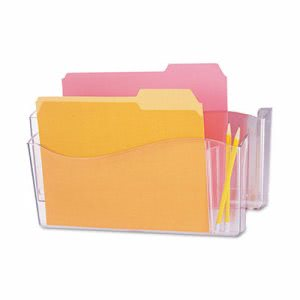 Universal Unbreakable 4-in-1 Wall File, Two Pockets, Plastic, Clear (UNV08142)