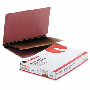 Universal Pressboard Tab Folders, Legal, 6 Section, Red, 10 per Box (UNV10316)