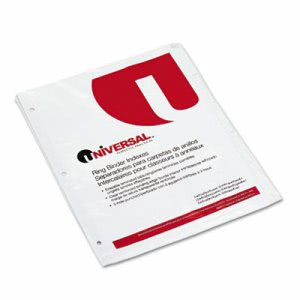 Universal Write-On/Erasable Indexes w/Tabs, Letter, White, 5 Tabs (UNV20815)