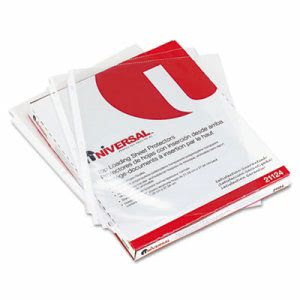 Universal Top-Load Poly Sheet Protectors, Letter, Clear, 50 Sheets (UNV21124)