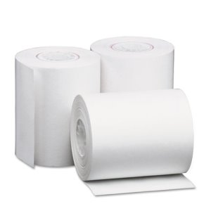 "Universal Single-Ply Thermal Paper Rolls, 2-1/4"" x 80', White, 50/CT (UNV35760)"