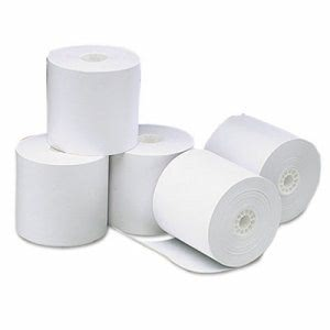 "Universal One-Ply Paper Rolls, 3-1/8"" x 273 ft, White, 50/Carton (UNV35764)"