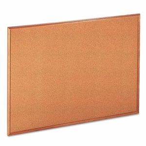 Universal Cork Bulletin Board, 48 x 36, Natural, Oak-Finished Frame (UNV43604)