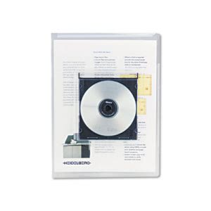 Universal Locking Project File w/ CD Holder, 9 x 12, Clear, 25/Pack (UNV50780)