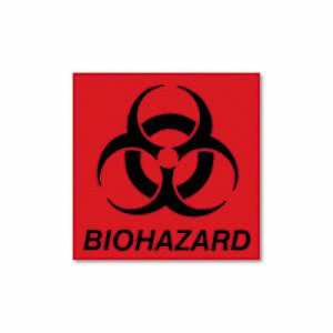Rubbermaid BP1 Waste Container Bio Hazard Identification Decal (RCP BP-1)