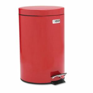 Rubbermaid Commercial Medi-Can, Round, Steel, 3 1/2 gal, Red (RCPMST35ERD)