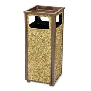 Rubbermaid Aspen 12 Gallon Ash/Trash Receptacle, Brown (RCPR12SU201PL)