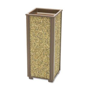 Rubbermaid R40201 Aspen Series Indoor/Outdoor Sand Urn, Square  (RCPR40201)