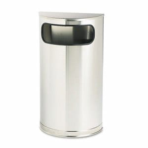 Rubbermaid SO8SSSPL Fire Safe 9 Gallon Half-Round Trash Receptacle (RCPSO8SSSPL)