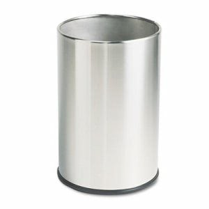European & Metallic Series 5 Gallon Wastebasket, Satin Stainless (RCPUB1900SSS)
