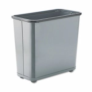 Rubbermaid WB30 Fire-Safe 7.5 Gallon Wastebasket, Steel, Gray (RCPWB30RGY)