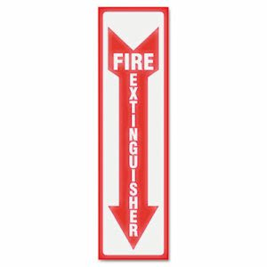 Headline Sign Glow In The Dark Sign, 4 x 13, Red, Fire Extinguisher (USS4793)