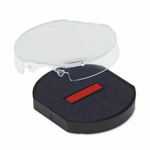 U. S. Stamp & Sign Trodat Dater Replacement Pad, Red/Blue (USSP46140BR)
