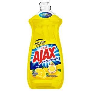Ajax Dish Detergent Liquid, Lemon Scent, 9 Bottles (CPC44673)