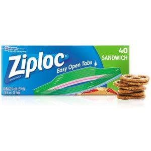 Ziploc Resealable Sandwich Bags DVOCB711398CT Open Ziploc Bag