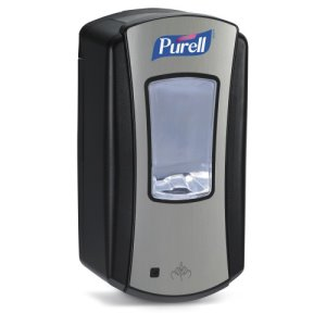 Purell LTX-12 Touch Free Hand Sanitizer Dispenser, Black/Chrome (GOJ192804)