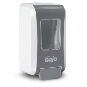 Gojo FMX-20 Soap Dispenser, 2000 mL, White/Gray, 6 Dispensers (GOJ527006)