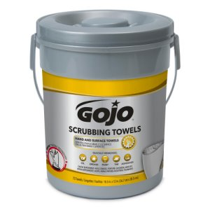 Gojo Scrubbing Towels Hand and Surface Towels, 6 Buckets (GOJ639606)