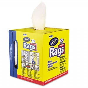 Scott Rags In-A-Box, White, 8/Boxes (KCC 75260CT)