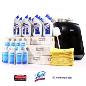 CleanItSupply Restroom Essentials Kit (KRR-RES-BDL1)