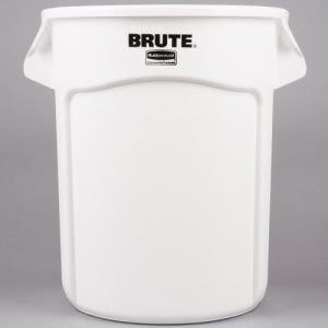 Rubbermaid 2620 Brute 20 Gallon Vented Trash Can, White (RCP 2620 WHI)