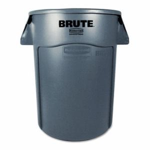 Rubbermaid 263200 Brute 32 Gallon Round Trash Can, Gray (RCP263200GY)