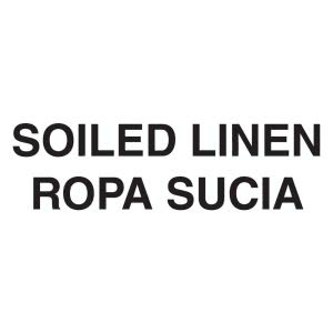 "Rubbermaid CL2 ""Soiled Linen"" English/Spanish Medical Decal, White (RCPCL2)"