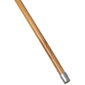 "Rubbermaid Commercial Bolt-On Wet Mop Handle, 60"", Hardwood/Metal (RCPH316)"