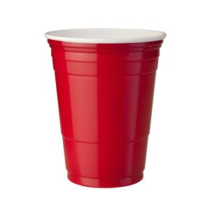 Solo Cup Company Red Plastic Party Cold Cups, 16 oz, 20 Bags of 50 (SCCP16RLRCT)