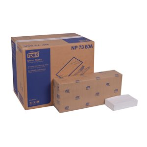 Tork Advanced Dinner Napkin, 3-Ply, 1/8 Fold, White,1740 Napkins (TRKNP7380A)
