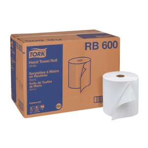 Tork Advanced 600 ft White Hardwound Roll Towels, 12 Rolls (TRKRB600)