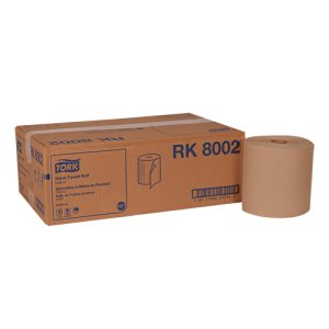Tork 800 ft Brown Hard Roll Paper Towels, 6 Rolls (TRKRK8002)