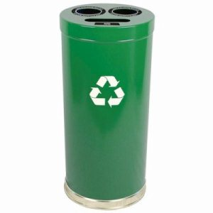 Witt 24 gal. Green RT Recycler - Metal Recycling Containers (WITT-15RTGN)