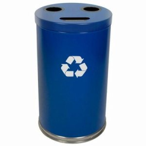 Witt 33 gal. Blue RT Recycler - Metal Recycling Containers (WITT-18RTBL)