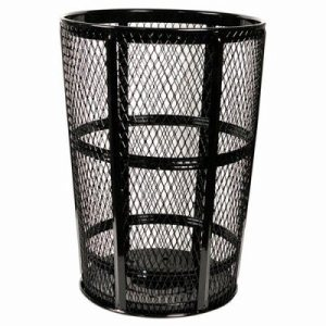 48 Gallon Black Expanded Metal Outdoor Trash Recptacle (WITT-EXP-52BK)