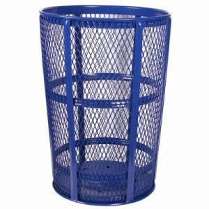48 Gallon Blue Expanded Metal Outdoor Trash Receptacle (WITT-EXP-52BL)