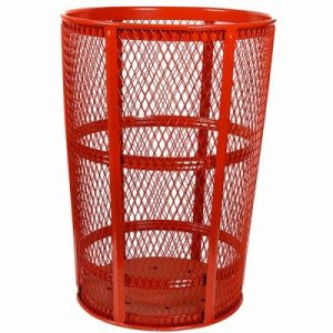 48 Gallon Red Expanded Metal Outdoor Trash Receptacle (WITT-EXP-52RD)