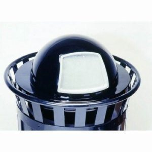 Witt Dome Top Trash Can Lid, Oakley Collection, Black (WITT-M3601-DTL-BK)