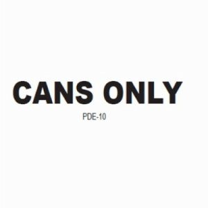 "Witt Decal ""Cans Only""  (WITT-PDE-10)"
