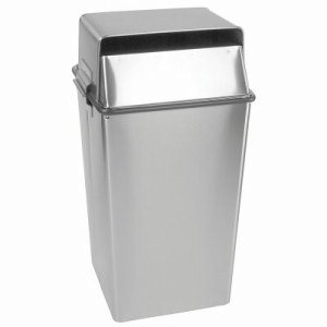 Witt 36 gal. Stainless Steel Confidential Waste Containers, 12/Carton (WITT-008LSS)
