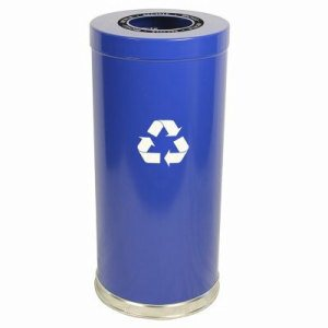 Witt 24 Gallon Metal Recycling Container, Blue (WITT-15RTBL-1H)
