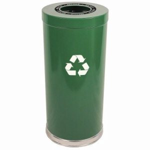 Witt 24 gal. Green RT Recycler - Metal Recycling Containers (WITT-15RTGN-1H)