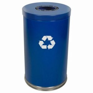 Witt 33 gal. Blue RT Recycler - Metal Recycling Containers (WITT-18RTBL-1H)