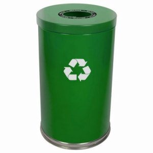 Witt 33 gal. Green RT Recycler - Metal Recycling Containers (WITT-18RTGN-1H)