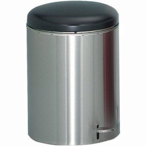 4 Gallon Step-on Trash Receptacle, Stainless Steel (WITT-2240SS)