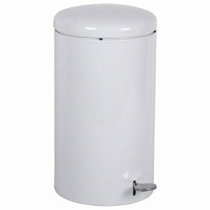 7 Gallon Step-on Trash Receptacle, White (WITT-2270WH)