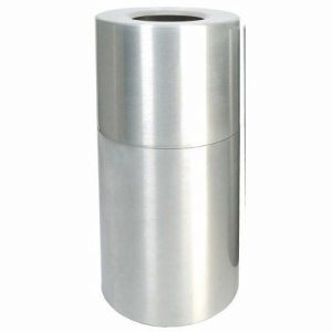 Witt 35 gal. Satin Clear Coat Aluminum Series - Decorative Receptacles (WITT-AL35-CLR)